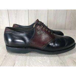Footjoy Classics Oxfords Black/Burgundy 9.5 D